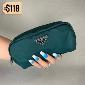 ✨✨✨✨SOLD✨✨✨✨Prada Teal VERY RARE Cosmetic Pouch